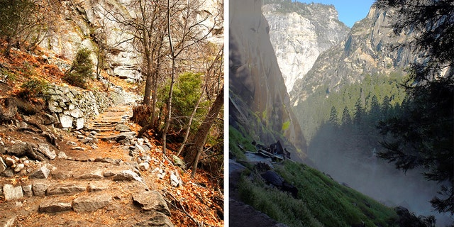 The National Park Service said that a California woman died on Sunday while on the Mist Trial in Yosemite National Park.