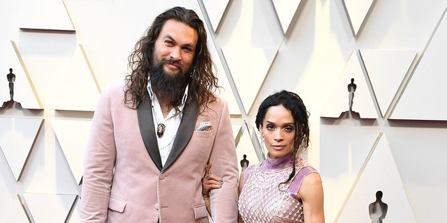 Jason Momoa and Lisa Bonet at the 91st Annual Academy Awards in Hollywood, California. (Photo by Steve Granitz/WireImage)