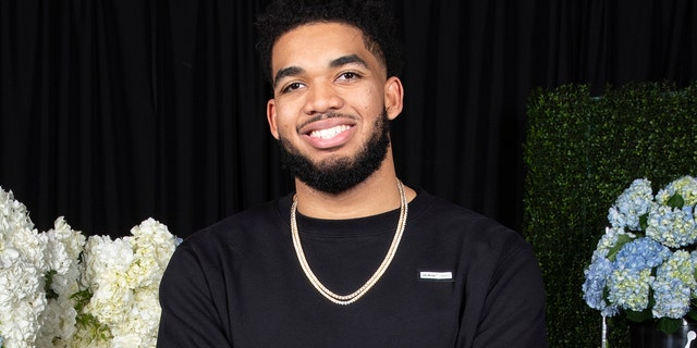 Nike athlete, Karl-Anthony Towns, arrives at the Jordan Brand All-Star Celebration on Friday, Feb. 15, 2019 in Charlotte, NC.