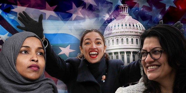 Three freshman lawmakerscausing a stir on Capitol Hill: From left are U.S. Reps. Ilhan Omar, Alexandria Ocasio-Cortez and Rashida Tlaib.