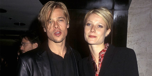 """Gwyneth Paltrow almost didn't star in the 1998 film """"Shakespeare in Love"""" because of her breakup with then-boyfriend Brad Pitt. The former couple are pictured here in 1997."""