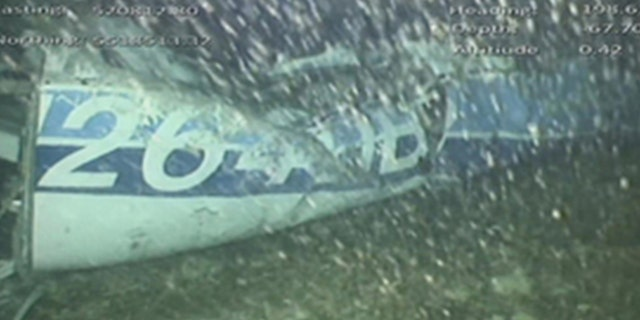 Footage from the wreckage of the Piper Malibu aircraft where Emiliano Sala was flying in before it went missing.