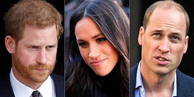 Prince Harry (left) and Prince William may have clashed over Meghan Markle.