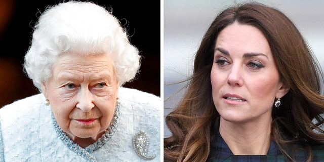 Kate Middleton (right) originally endured a rocky start with Queen Elizabeth II.