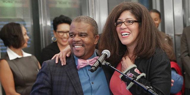 Richard Pryor Jr. and his sister Rain Pryor. (Getty Images)