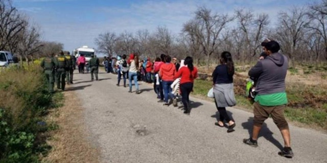 A group of 90 Honduran nationals - mostly families and unaccompanied minors - were apprehended after crossing the Rio Grande River in Texas.