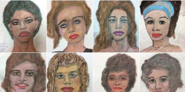 Federal Bureau of Investigation releases serial killer's drawings in a bid to identify his victims