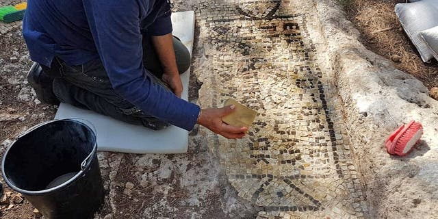 The inscription in Greek helped archaeologists work out the site's history.