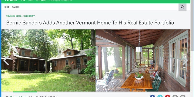 Bernie Sanders acquired this waterfront vacation home in the Lake Champlain island community of North Hero, Vermont. The historic four-bedroom home was built in 1920, and sits on 1.1 acres of land.