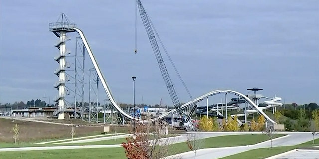 "Caleb was decapitated while riding the 17-story Verruckt slide (which is the German word for ""crazy"") which was billed as the worlds largest water slide at the time"