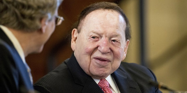 Chief Executive of Las Vegas Sands Corporation Sheldon Adelson (AP Photo/Andrew Harnik, File)