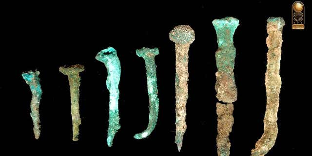 Ancient nails detected during a site in Northern Sinai.