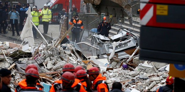 Funeral for family in Turkey building collapse
