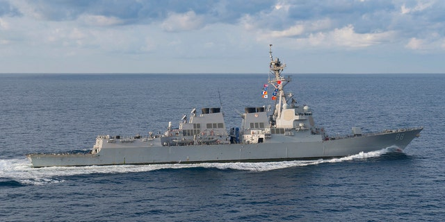 USS Preble was one of two warships that performed the operation; They were overshadowed by Chinese assets, but the interaction was routine and uneven, according to a US official. (Mass Communication Specialist 3rd Class Morgan K. Nall / U.S. Navy)