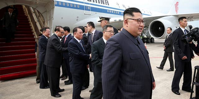 Kim Jong Jun arrived in Singapore in June on an Air China plane.
