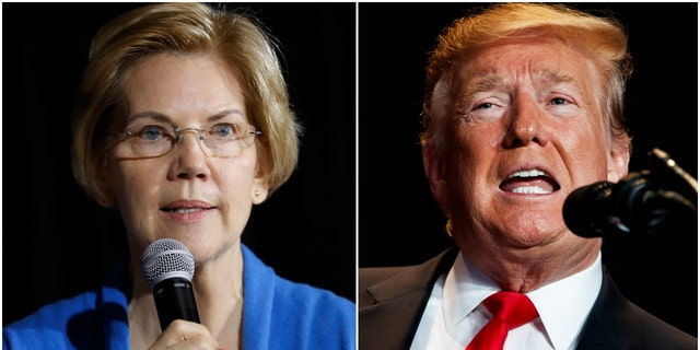Sen. Elizabeth Warren and President Donald Trump (Photo: AP Photo/Charlie Neibergall and AP Photo/ Evan Vucci)