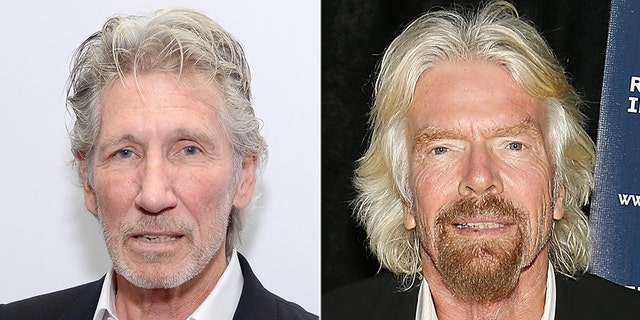 Waters' (left) pointed criticism at his countryman comes as Branson (right), founder of the Virgin Group, says he is hoping to raise $100 million on Friday for people suffering in the South American country.