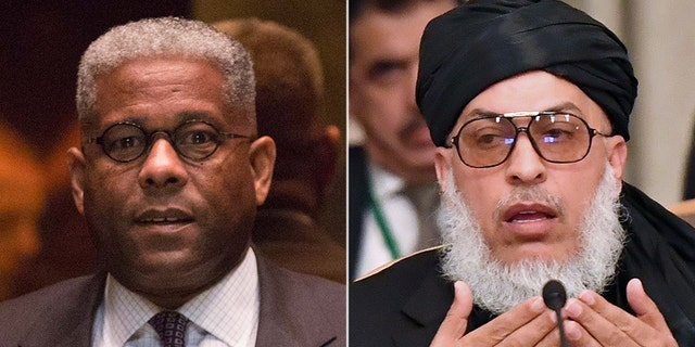Lt. Col. Allen West (left) expressed his 'disgust' with recent reports Wednesday that five members of the Taliban negotiation team - led by Mullah Abbas Stanikzai (right) - meeting with a United States envoy to end America's war in Afghanistan are former Guantanamo Bay detainees released in 2014.