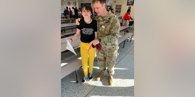 Emery's father had also visited the school that same day to celebrate an academic achievement award Emery had received.<br>