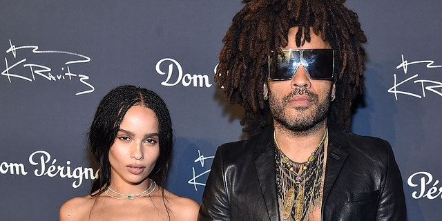 Zoe and Lenny Kravitz shared a fun, NSFW exchange on Instagram.