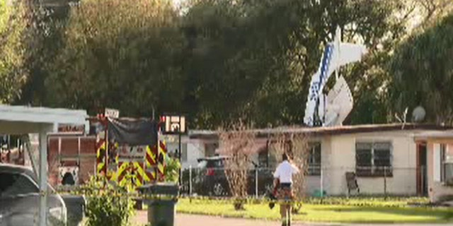 Three people were inside the home at the one, but only one was injured.