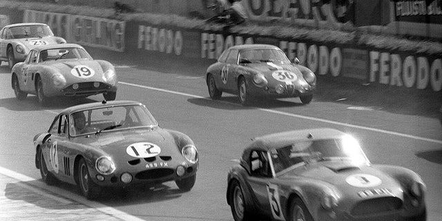 A Giulietta SZ (36) can be seen here competing at the 1963 running of the 24 Hours of Le Mans.