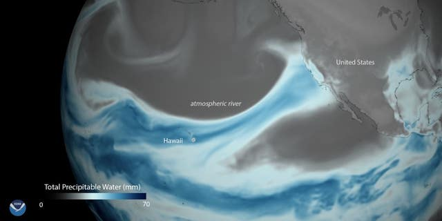Atmospheric rivers bring plumes of moisture from the tropics to the Western U.S.