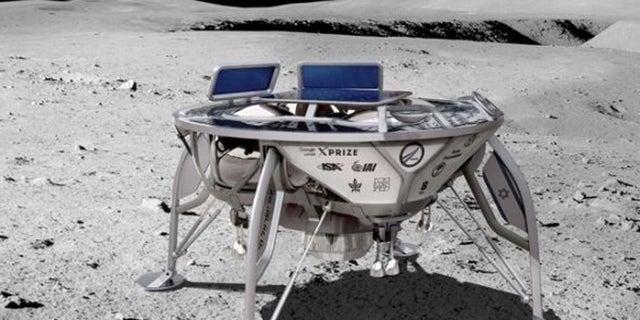 An artist's depiction of Beresheet lunar lander.