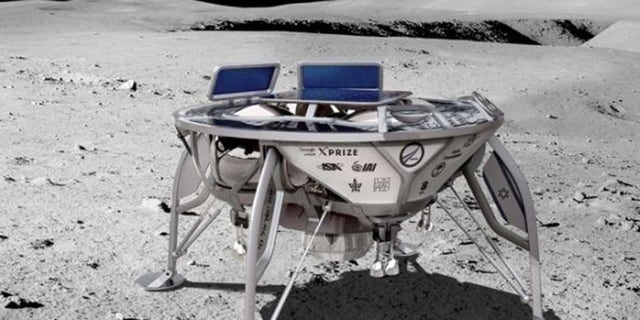 An artist's depiction of Beresheet lunar lander.