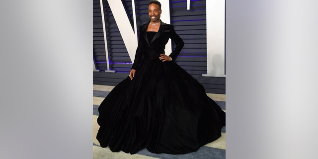 Billy Porter arrives at the Vanity Fair Oscar Party on Sunday, Feb. 24, 2019, in Beverly Hills, Calif.