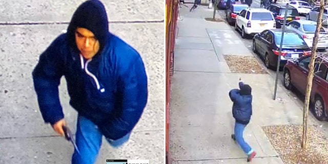The NYPD is asking for help in locating a man suspected of firing gunshots at a crowd of people last week in a Bronx neighborhood.