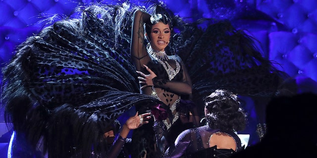 Cardi B performs Pari at the 61st Grammy Awards on Sunday, February 10, 2019 in Los Angeles. (Photo by Matt Sayles / Invision / AP)