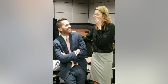 Brandon Dinetz and Jen Lettman, both 28, met while working together as attorneys in 2016 and their professional relationship quickly blossomed into romance.