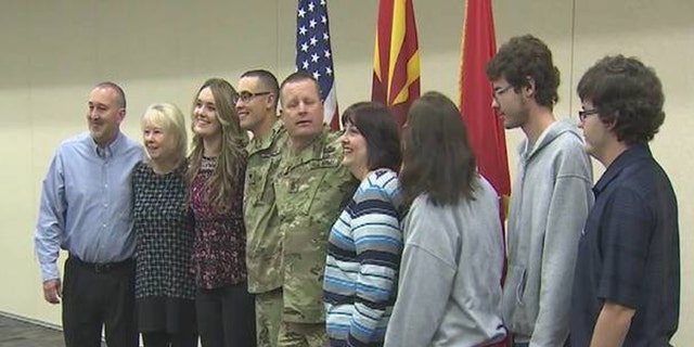 Command Sergeant Major Michael Kirby and his son, Specialist Kyle Kirby, are being deployed to Afghanistan with the Arizona Army National Guard's 253rd unit.