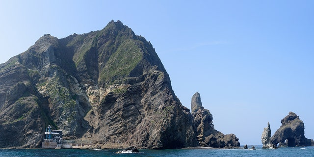 Dokdo. A beautiful island at the eastern end of Korea.