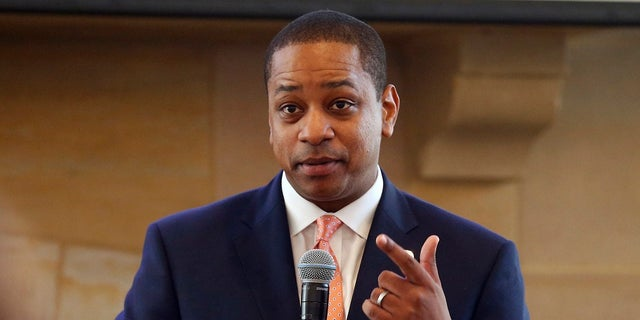 FILE- In this Sept. 25, 2018, file photo, Virginia Lt. Gov. Justin Fairfax gestures during remarks before a meeting of the Campaign to reduce evictions at a church meeting room in Richmond, Va. Two women have accused Fairfax of sexually assault. (AP Photo/Steve Helber)