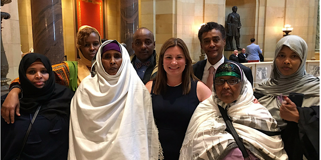 Rep. Franson with activists advocating for further laws against Female Genital Mutilation in Minnesota