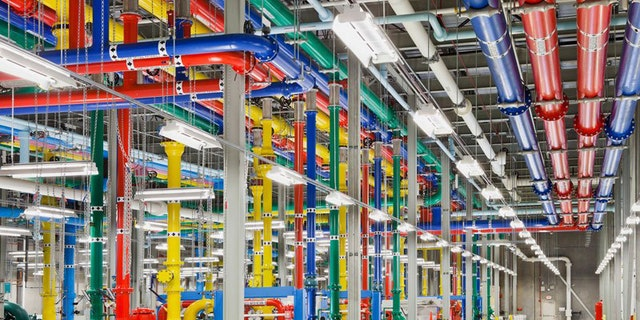 A Google data center in Douglas County, Georgia, is seen above.