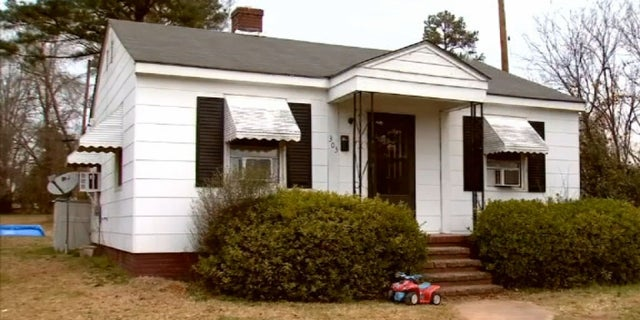 The home where the incident occurred in Union, S.C.