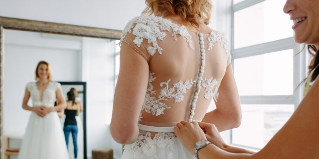 Hunting for a wedding dress was one of the most time-consuming activities, the study found.