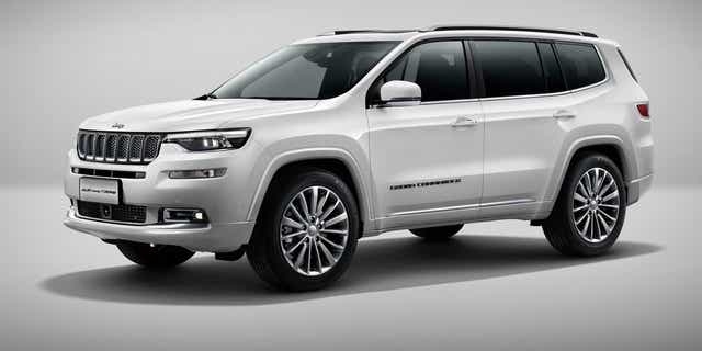The Jeep Grand Commander is a China-made three-row SUV.