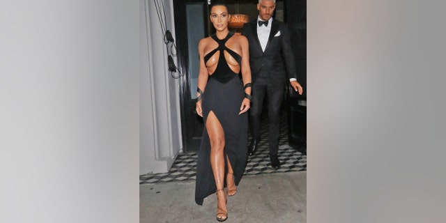 Kim Kardashian seen on Feb. 17, 2019 in Los Angeles.