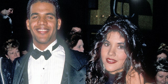 Actor Kristoff St. John, mother Maria and his wife Mia attend the 20th Annual Daytime Emmy Awards on May 26, 1993, at the Marriott Marquis Hotel in New York City.