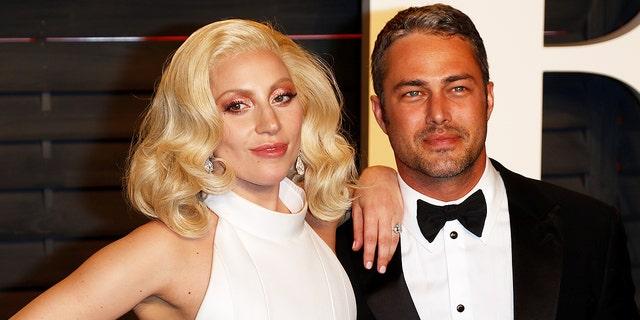 Lady Gaga and Taylor Kinney attend the Vanity Fair Oscar Party on Feb. 28, 2016.