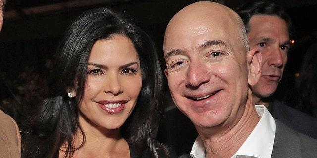 Lauren Sanchez and Jeff Bezos.