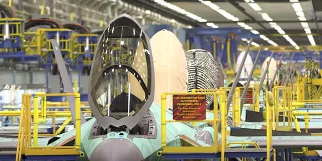 A rise inside a Lockheed Martin factory.
