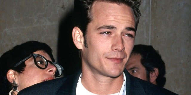 Actor Luke Perry attends the 51st Annual Golden Apple Awards on December 8, 1991 in Los Angeles, California.