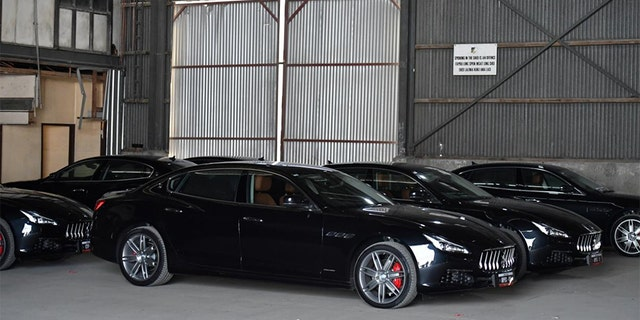 A fleet of Maserati cars are seen during the 2018 Asia-Pacific Economic Cooperation (APEC) forum in Port Moresby, Papua New Guinea, November 17, 2018.