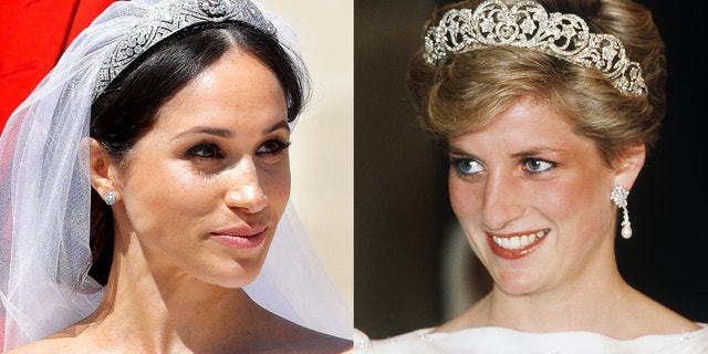 Andrew Morton said he saw some similarities between Meghan Markle (왼쪽) and Princess Diana (권리).