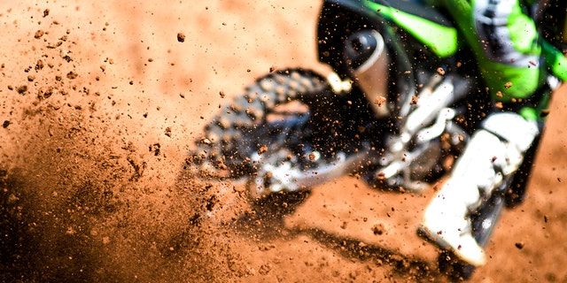 Seven people were injured, two seriously, after a motocross bike flew into the stands during at event at at the Summit County Fairgrounds in Ohio late Saturday, officials said.